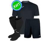 Детская футбольная форма Joma Combi черная (футболка+шорты+гетры) 100052.100 - черная