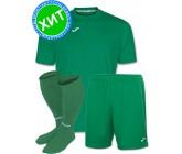 Акция! Комплект футбольной формы Joma Combi(футболка+шорты+гетры) 100052.450 - зеленая