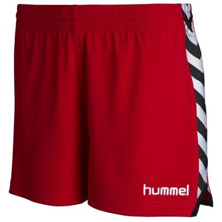 Шорты женские Hummel Stay Authentic Poly Shorts красные 010-628-3062