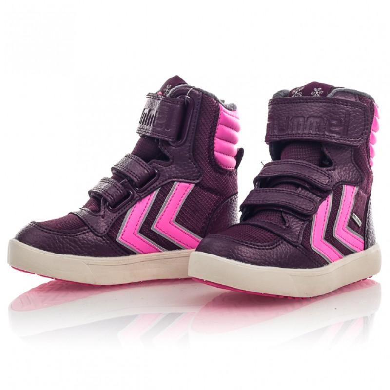 Ботинки детские HUMMEL STADIL SUPER HI фиолетовые 163-768-3506