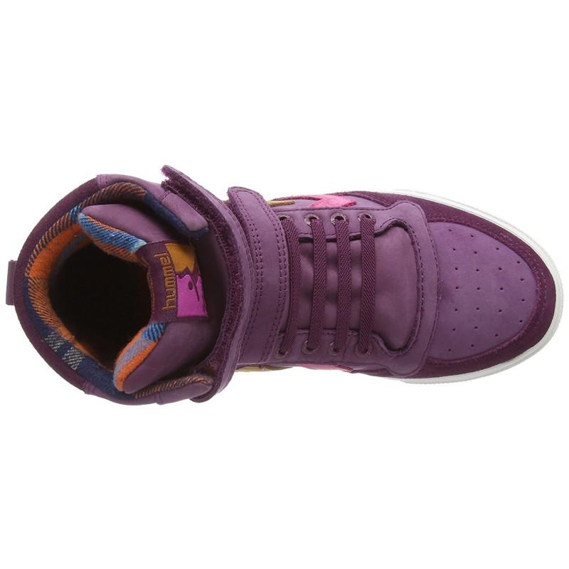 Ботинки детские HUMMEL SL STADIL JR OILED HI фиолетовые 163-927-3506