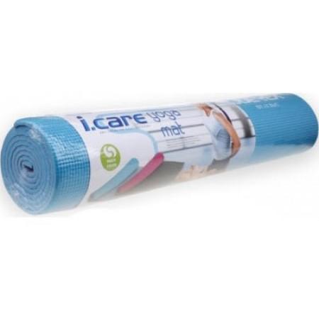 """Коврик для занятий фитнесом Joerex """"I CARE"""" JBD10552- 6mm-синий"""