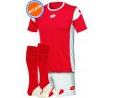 Акция! Комплект футбольной формы Lotto KIT STARS EVO(футболка+шорты+гетры) red