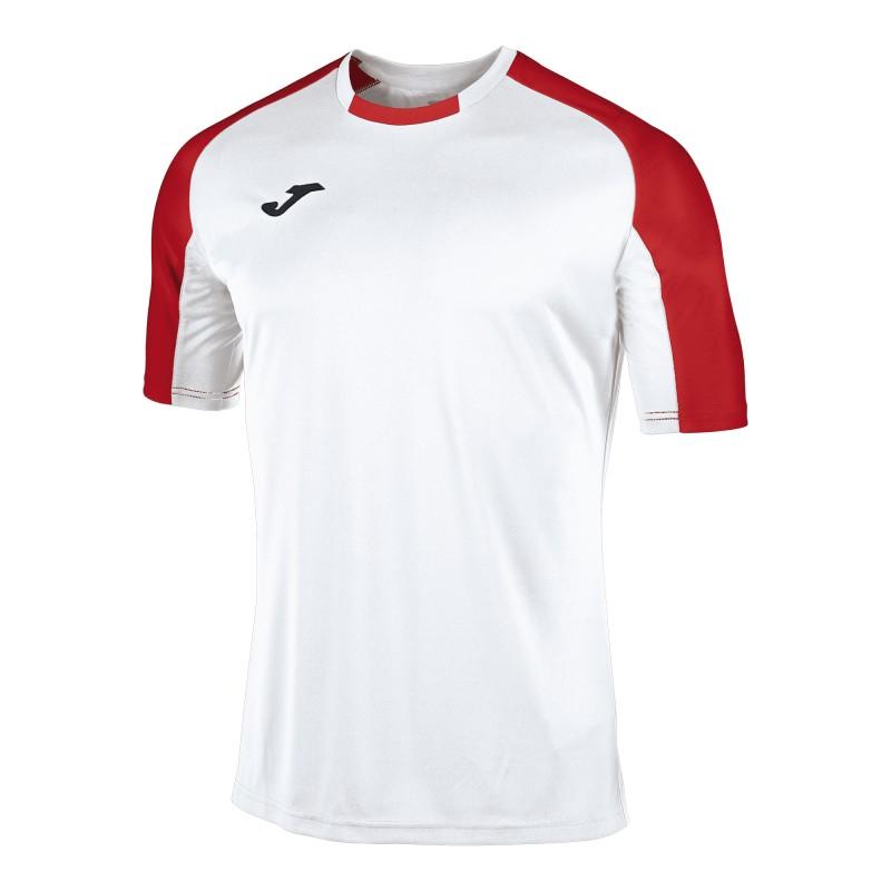 Футбольная форма Joma ESSENTIAL 101105.206-1 бело-красня (футболка, шорты, гетры)