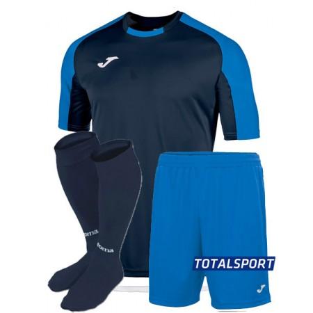 Футбольная форма Joma ESSENTIAL (футболка, шорты, гетры) сине-т.синяя