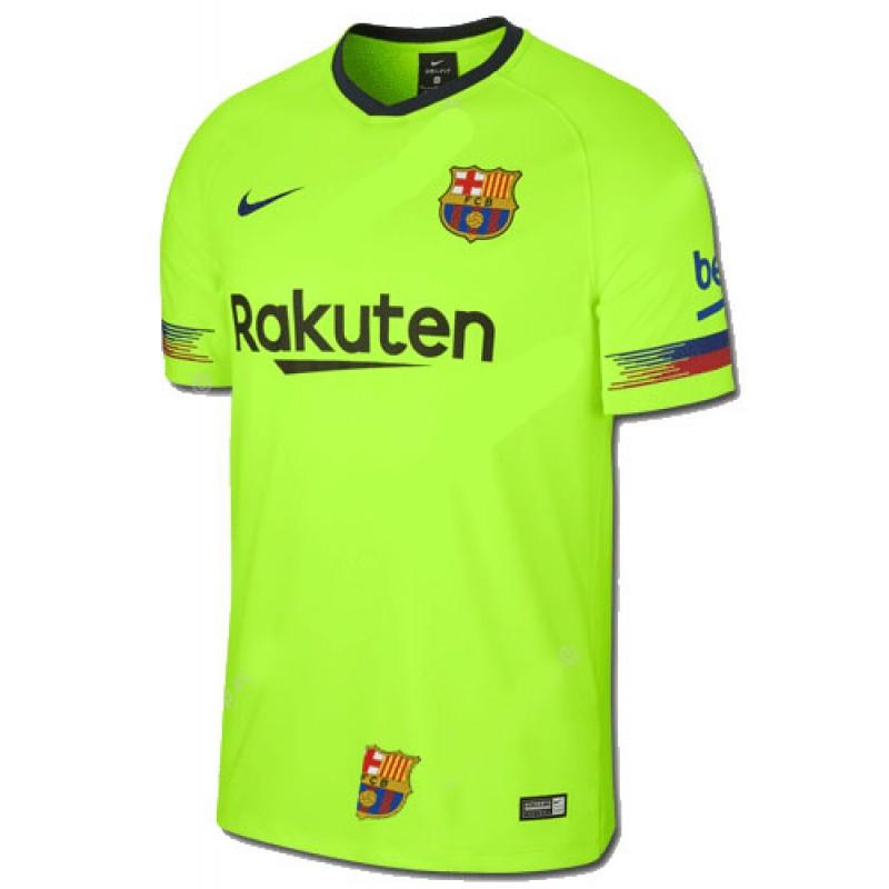 Детская футбольная форма ФК Барселона салатовая Messi FC Barcelona