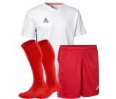 Комплект футбольной формы Select MEXICO (футболка+шорты+гетры) бело-красный