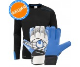 Акция! Свитер uhlsport TOWER GK SHIRT LS 100561202+перчатки uhlsport ELIMINATOR STARTER SOFT 100018301