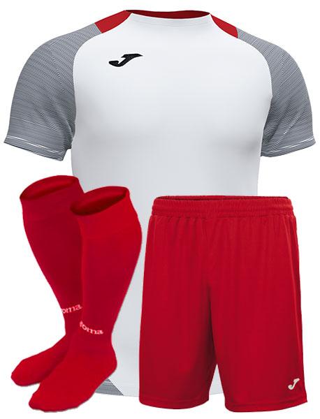 Футбольная форма Joma ESSENTIAL серо-красная