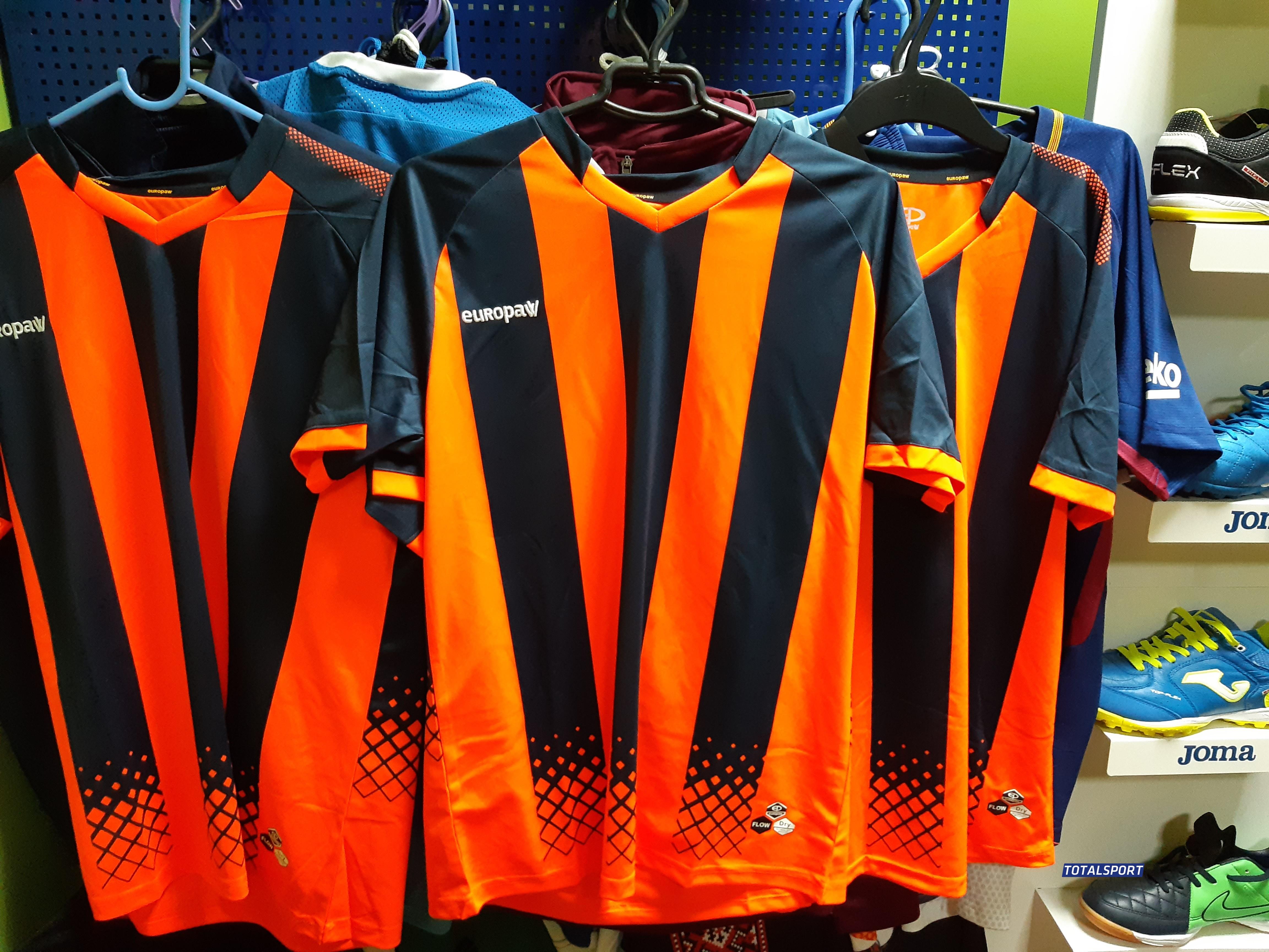футбольная форма Europaw сине-оранжевая