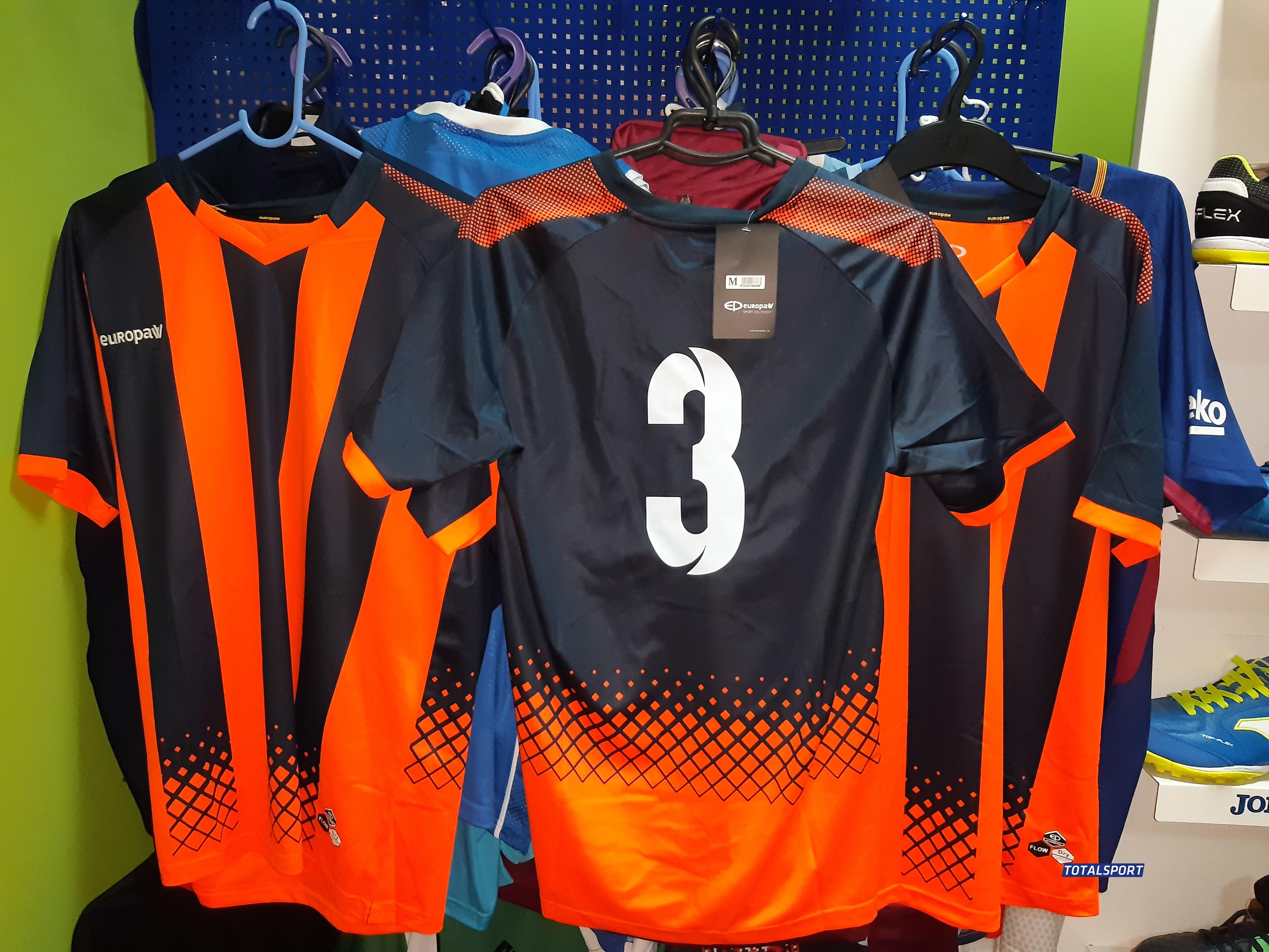 футбольная форма Europaw сине-оранжевая с номерами