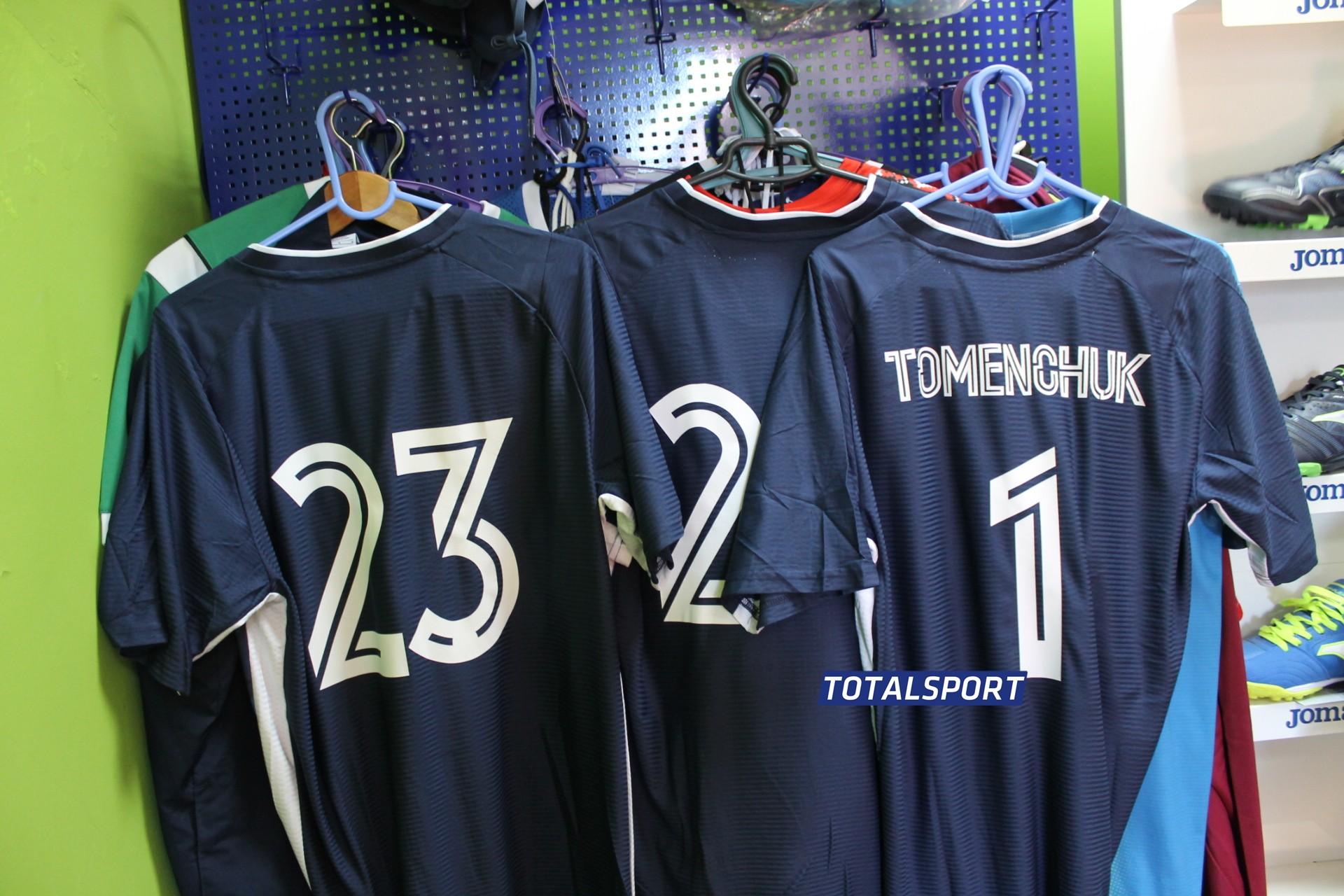 футбольная форма Europaw темно-синяя с номерами
