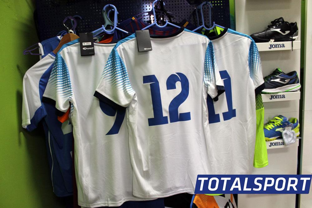 Футбольная форма Europaw 024 бело-голубая с номерами