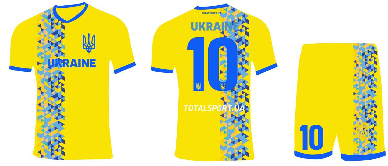 футбольная форма Украина Low polly