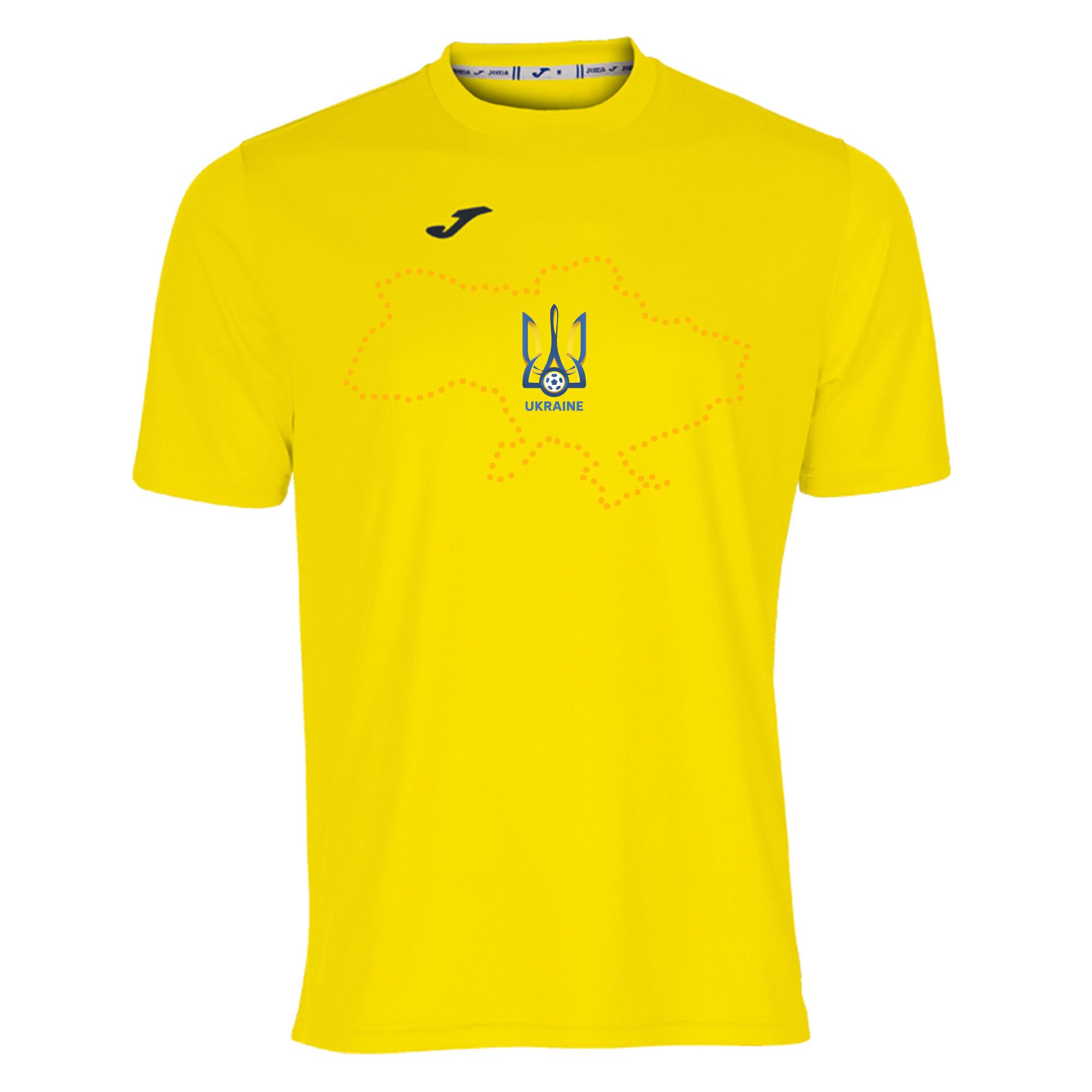 Футболка сборной Украины Joma желтая 100052.900 с картой Украины