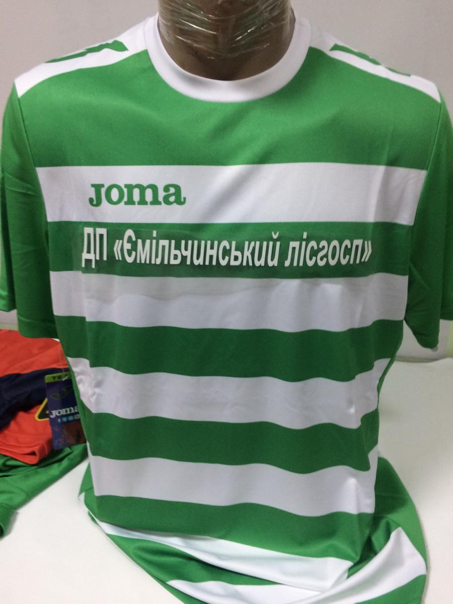 нанесение на  форма зеленой Joma