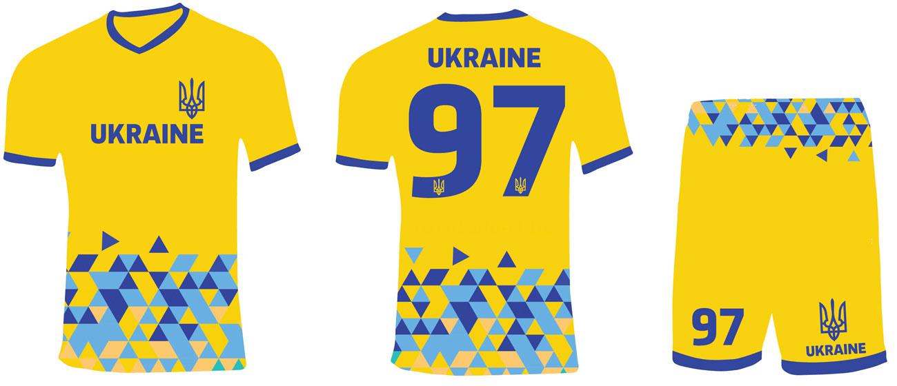 футбольная форма Украина желтая