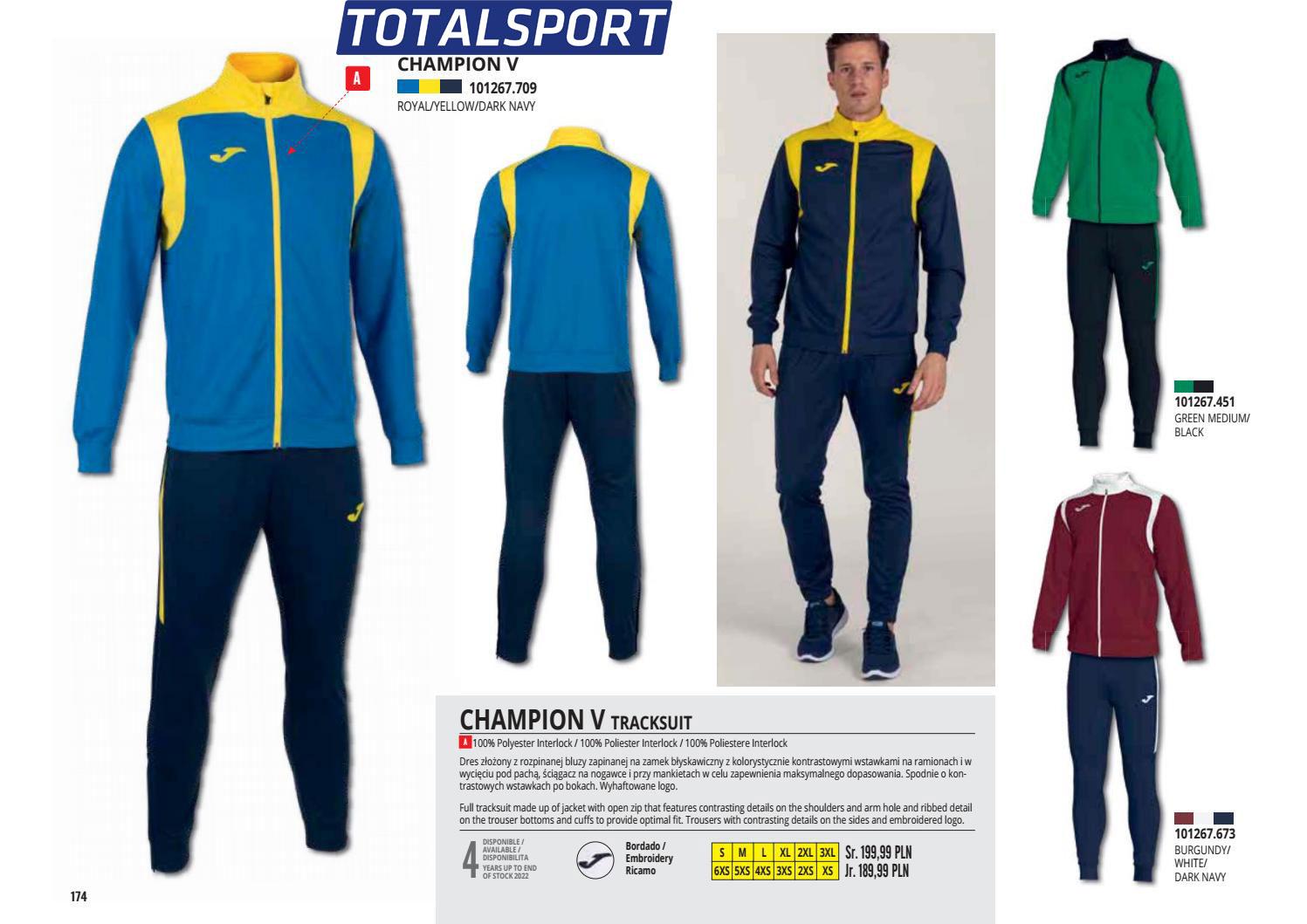 костюм Joma CHAMPIONSHIP V желто-синий