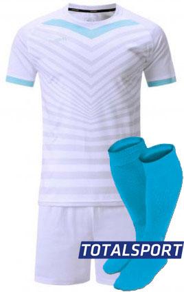 Футбольная форма Europaw 026 бело-голубая