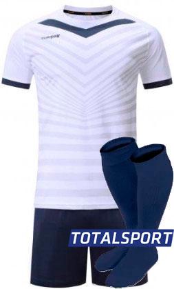 Футбольная форма Europaw 026 бело-т.синяя