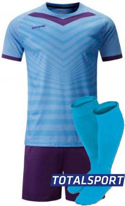 Футбольная форма Europaw 026 голубо-фиолетовая