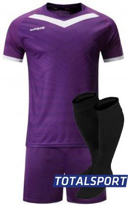 Футбольная форма Europaw 026 фиолетово-белая