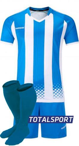 Футбольная форма Europaw 020 бело-голубая