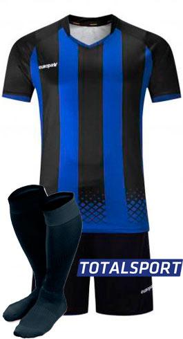 Футбольная форма Europaw 020 сине-черная для команды