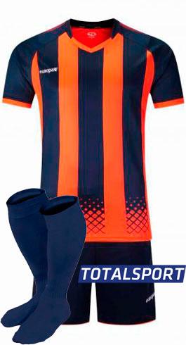 Футбольная форма Europaw 020 сине-оранжевая для команд
