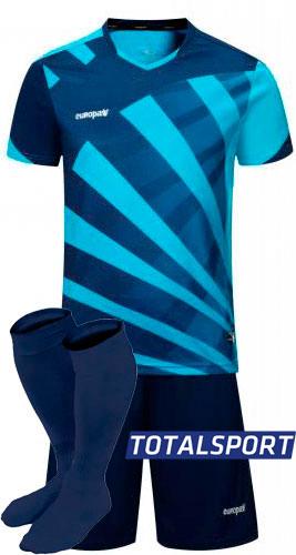 Футбольная форма Europaw 023 сине-голубая для команды