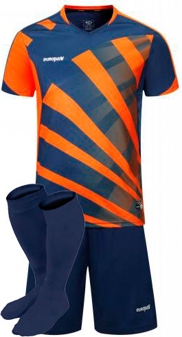 Футбольная форма Europaw 023 оранжево -синяя для команды
