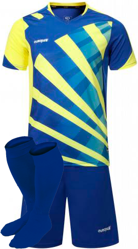 Футбольная форма Europaw 023 желто-голубая для команды фото 1