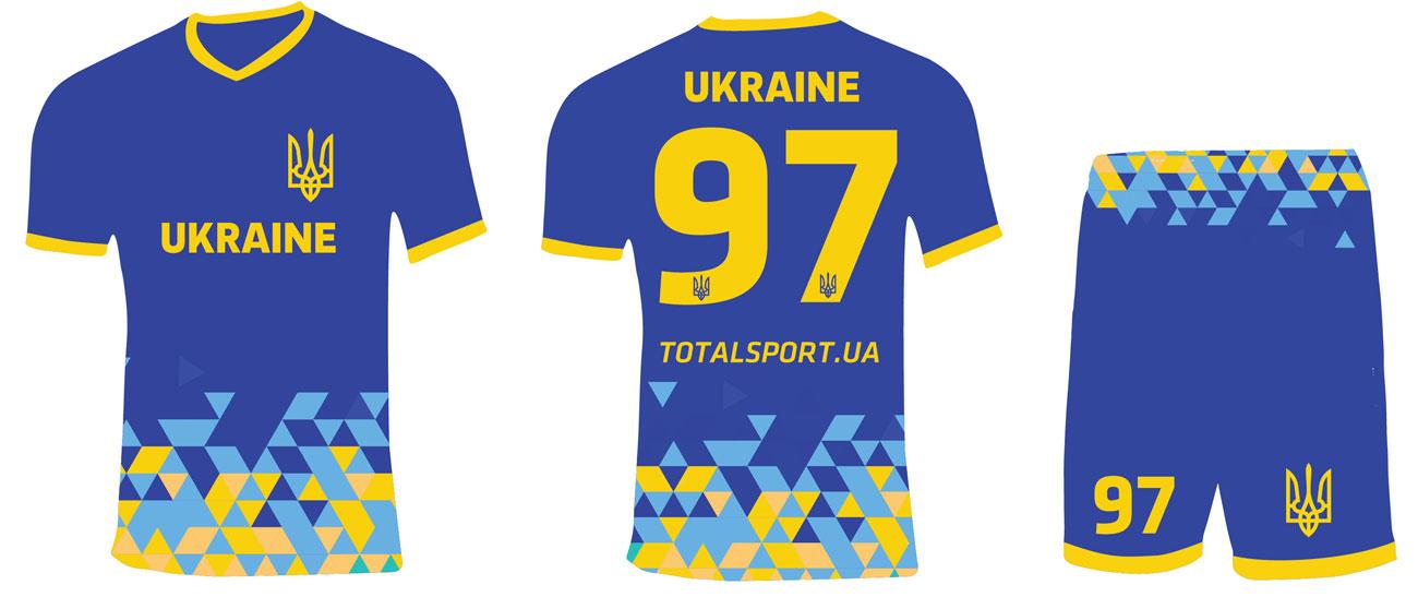 Футбольная форма на заказ формы Сборной Украины