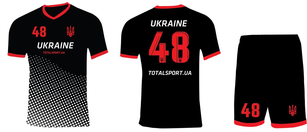 Форма сборной Украины черная
