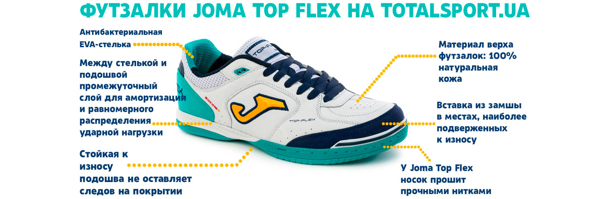 Обувь для футзала Joma Top Flex