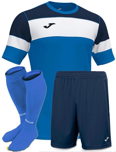 форма Joma Crew II синяя с голубым