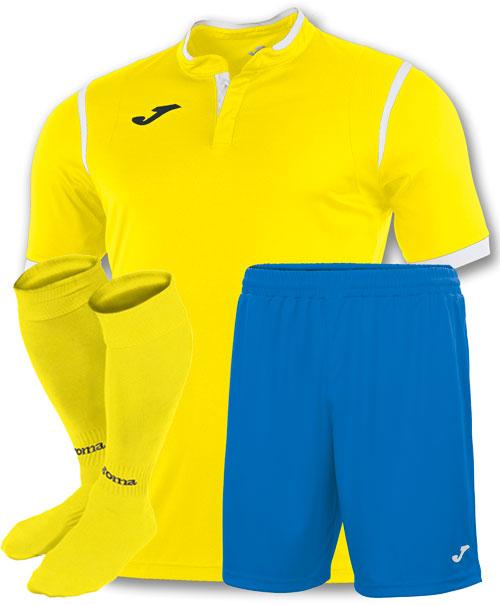 форма Joma Toletum голубая желтая