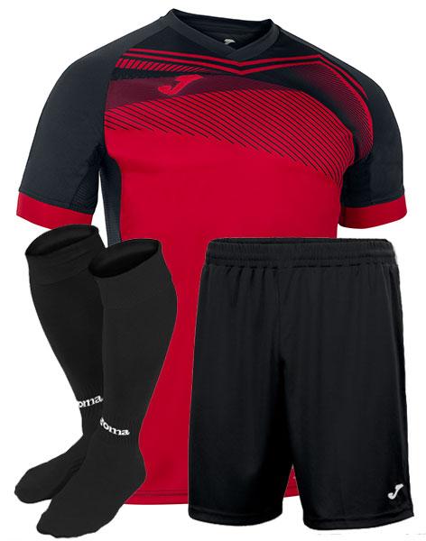 Футбольная форма Joma SUPERNOVA II красно-черная
