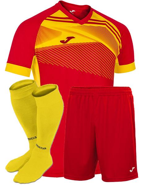 Футбольная форма Joma SUPERNOVA II красно-желтая