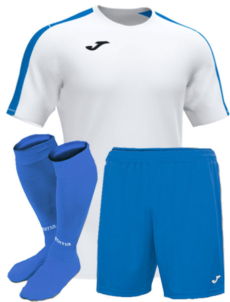 Футбольная форма Joma Academy III бело-голубая