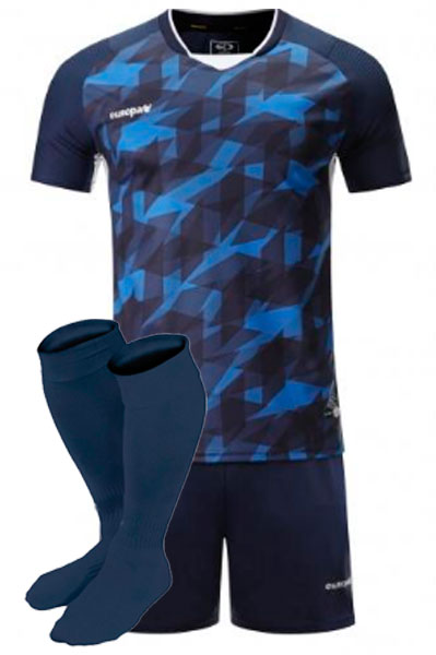 Футбольная форма Europaw 027 синяя