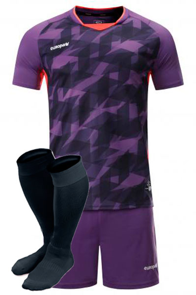 Футбольная форма Europaw 027 фиолетовая