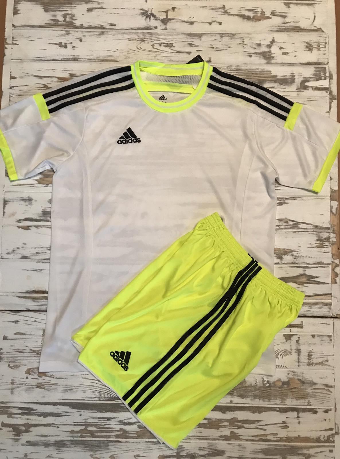 Футбольная форма Adidas 2021 бело-желтая