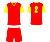 Футбольная форма Titar Универсал II красно-желтая