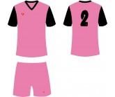 Футбольная форма Titar Универсал II розово-черная