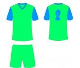 Футбольная форма Titar Универсал II зелено-голубая