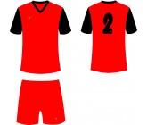Футбольная форма Titar Универсал II красно-черная