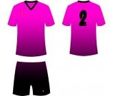 Футбольная форма Titar CoolMax сублимация розово-черная