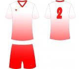 Футбольная форма Titar CoolMax сублимация бело-красная