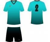 Футбольная форма Titar CoolMax сублимация бирюзово-черная